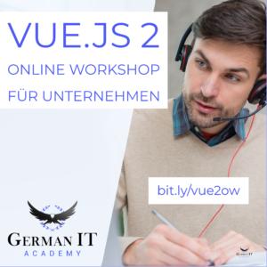 vuejs 2 online workshop für unternehmen